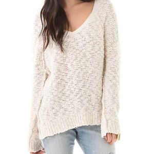 Free People songbird boucle pullover sweater